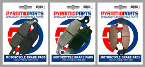Front & Rear Brake Pads (3 Pairs) for Kawasaki ZR 750 Zephyr 1996
