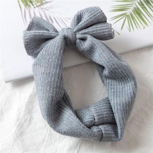 Baby  Soft Cotton Knit Baby Heaband Rabbit Ear Elastic Hearbands Baby Headbands
