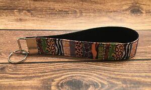 Animal Prints Southwest Tie Dye Fabric Key Fob Wrist Keychain Holder Lanyard