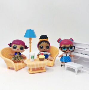 Doll Furniture Fits Lol Surprise Big Sisters Chairs Table Accessory