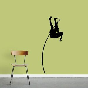 Female-Pole-Vaulter-Wall-Decal-Sports-Athlete-Runner-Jumping-Track-Kids
