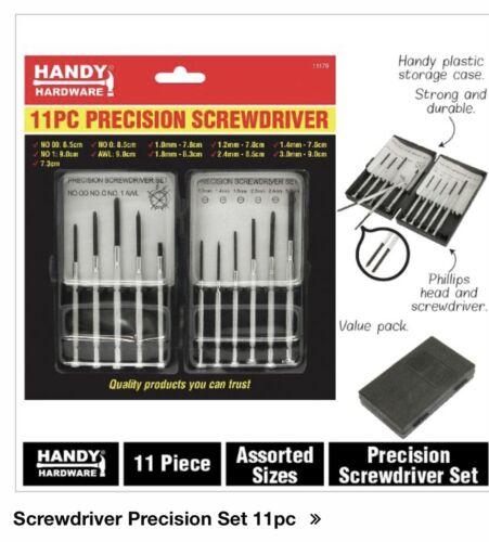 Handy Hardware Screwdriver Precision Set 11pc