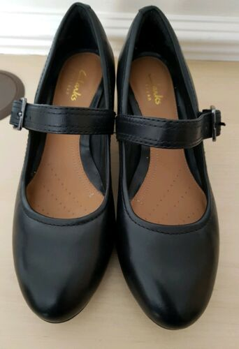 mujer tacón con Artisan Reino hebilla de cuero eu para medio de 4 Zapatos 37 Unido corte Clarks gFpqz
