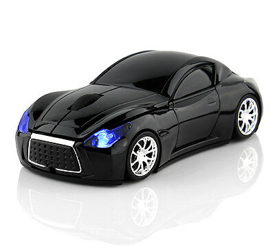 2.4GHz Wireless 3D 1600DPI Infiniti Car Style Optical Usb Gaming Mouse Mice US