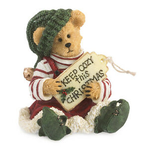 Boyds Bears 2014 1E Elf Bear Bearstone Figurine ~ Buddy Elfkin ~ 4041879