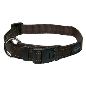 Rogz Dog Collar Side Release Utility Line Lumberjack X-Large 17in-29in Brown