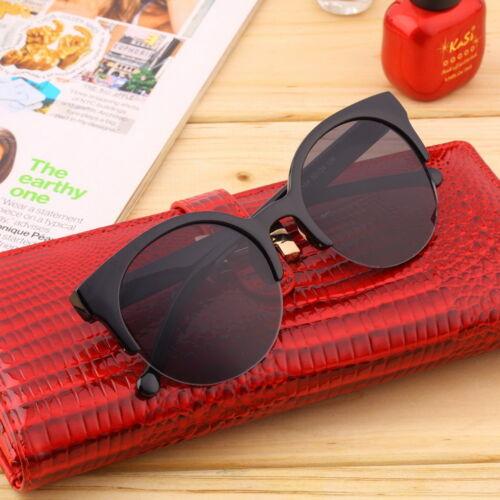 Retro Black Lens Vintage Men Women Round Frame Sunglasses Stylish Eyewear glassr