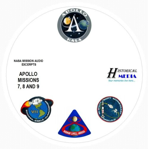 8 and 9 On 1 Audio CD NASA SPACE AUDIO Mission Audio From Apollo Missions 7