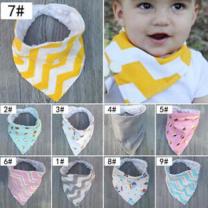 Baby-Girls-Boy-Kids-Saliva-Towel-Bandana-Bibs-Infant-Dribble-Triangle-Head-Scarf