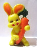 Yellow Bunny Rabbit With Carrot Easter Candle Unused Gurley Collectible