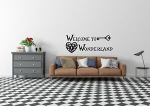 Welcome-To-Wonderland-Alice-In-Wonderland-Inspired-Wall-Art-Decal-Vinyl-Sticker