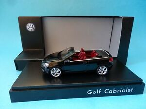 VOLKSWAGEN-GOLF-VI-CABRIOLET-BLACK-NEGRO-1-43-NEW-SCHUCO-VW-DEALER