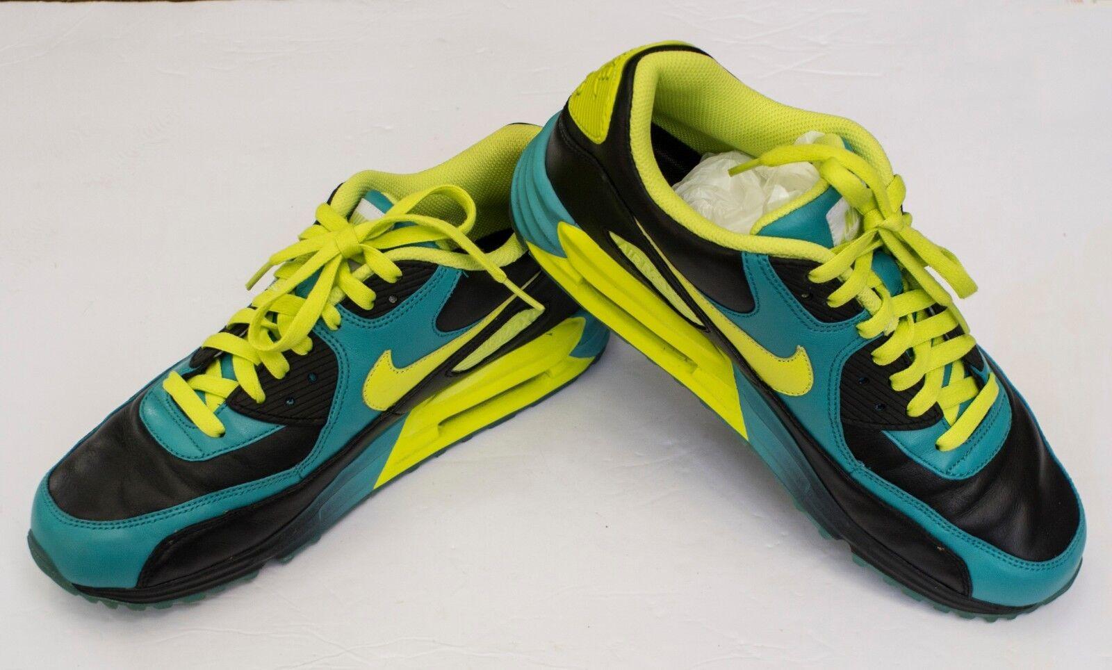 Nike Air Max 90 Essential iD Männer USA Gr. 9.5 Blau Schwarz Gelb UK 8.5