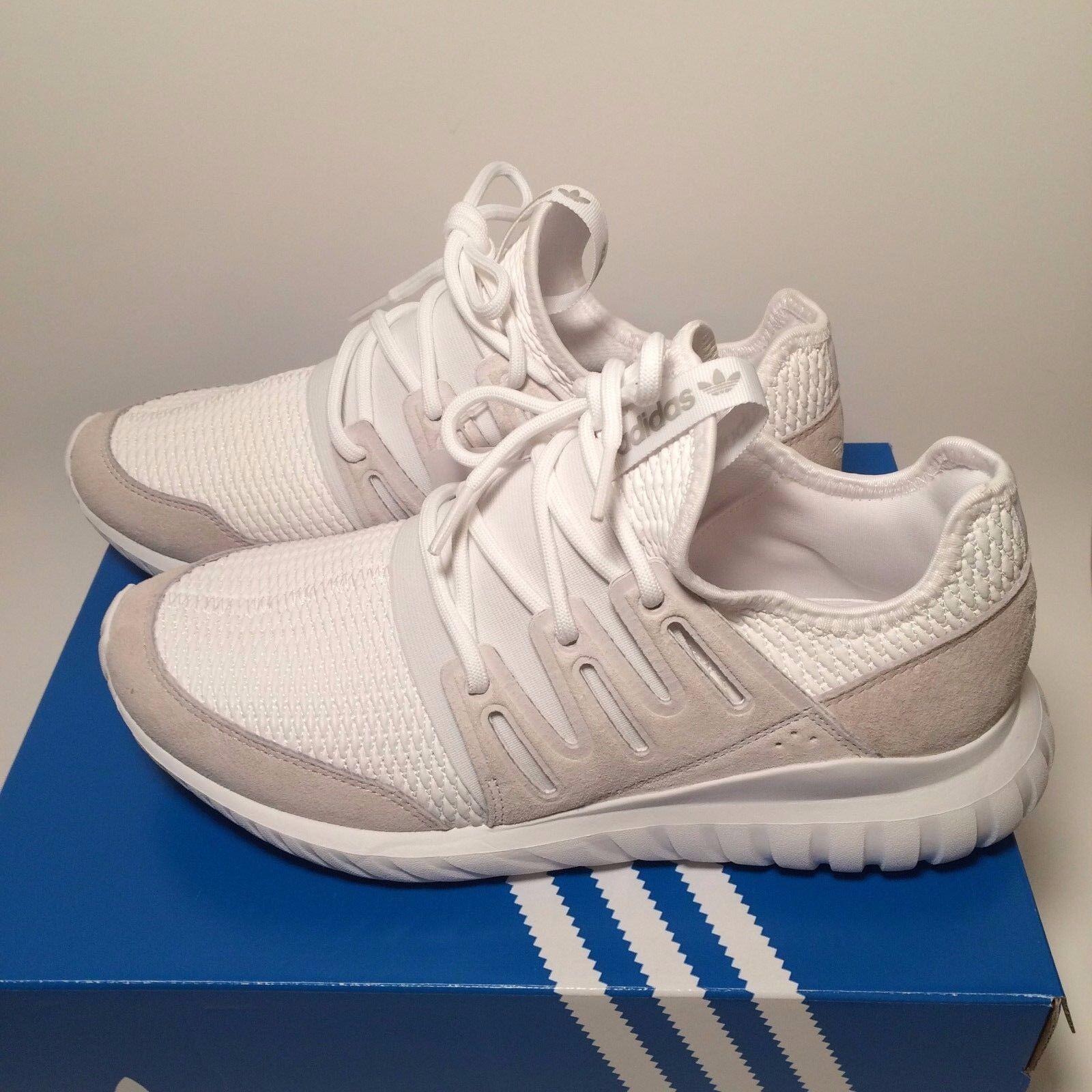 New ADIDAS Tubular Radial  MAN'S White Sneaker S76720 SZ 8
