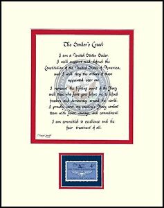 image is loading st044a u s navy sailor 039 s creed naval