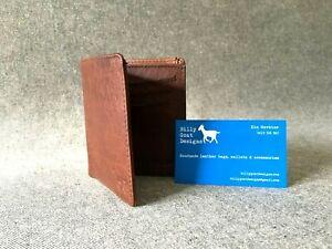 Leather Wallet Bifold W2H Men/'s Cash Cards Buffalo Handmade Billy Goat Designs