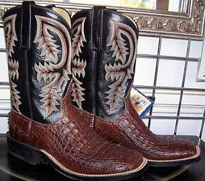 de7c582edc0 Details about Anderson Bean Sportrust Caiman Crocodile Alligator Square Toe  Cowboy Boots 8 D