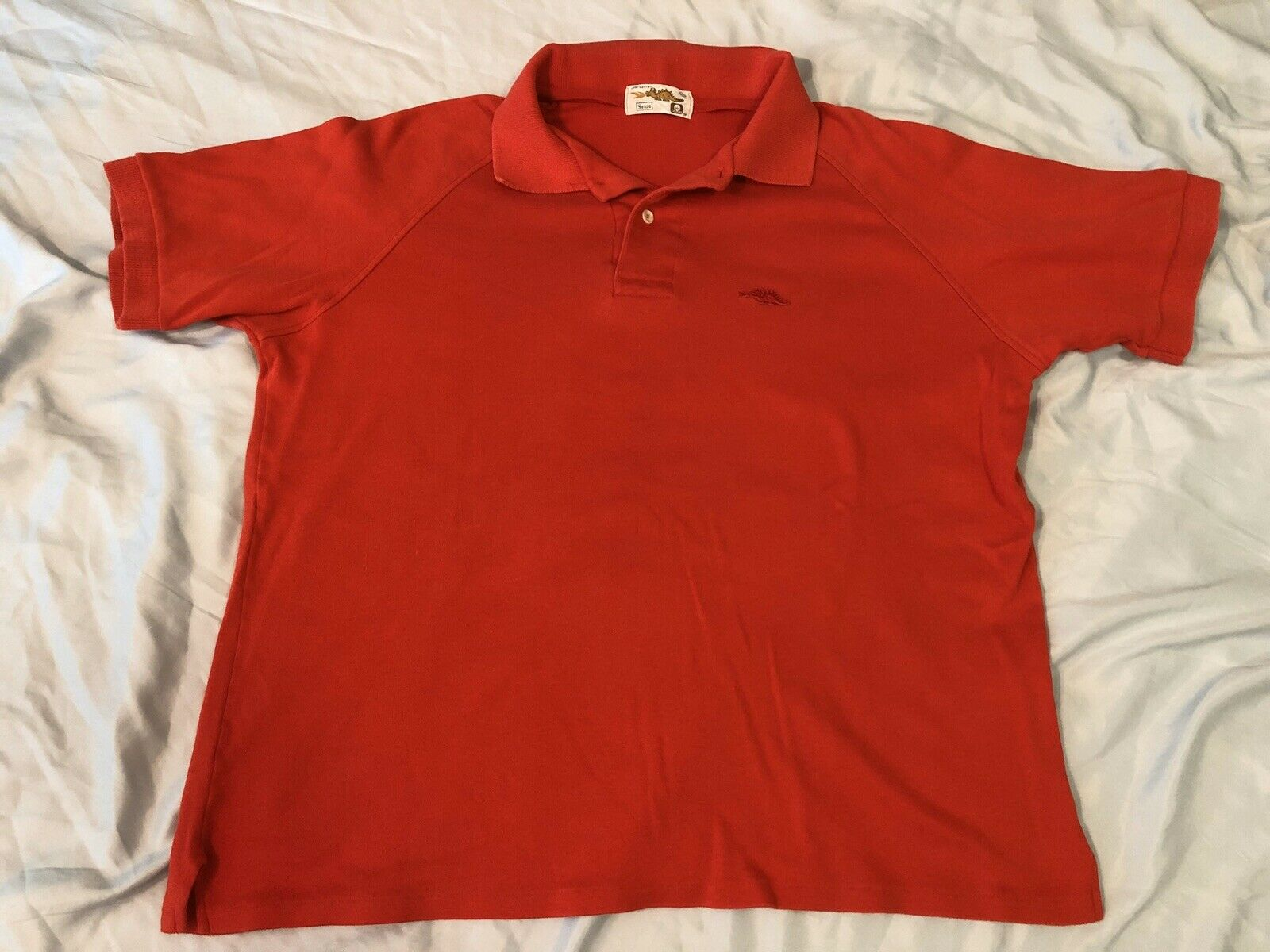 Vintage 1980s 80s Sears Dragon Polo T-Shirt, Red … - image 2
