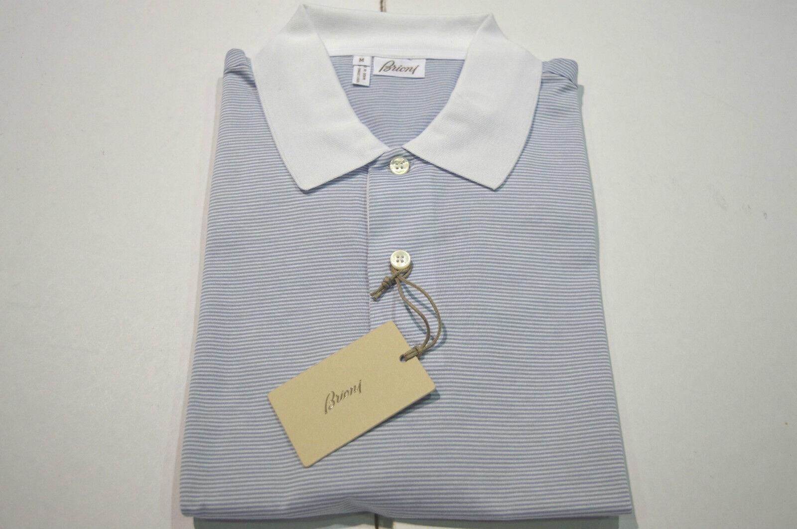 NEW  BRIONI  Polo  Short Sleeve 100% Cotton Größe L Us Eu 52 (Code Spmillb)