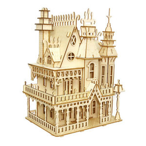 Assembly-Kit-DIY-Education-Toy-3D-Wooden-Model-Puzzles-Dream-Villa-Palace-House