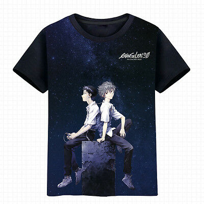 Anime Evangelion SHINJI//Nagisa Unisex T-shirt HD Printing Cosplay Tee#17-XY-2