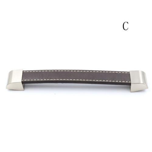 Luxury Leather Cupboard Door Cabinet Pull Handle Knob Wardrobe Furnitures VQ