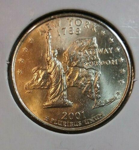 Uncirculated 2001 New York D State Quarter BU