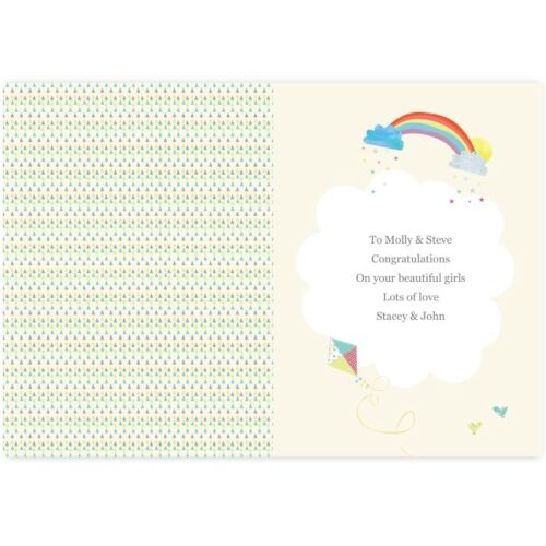 Personalised TWINS Birth CARD New Baby Twins Twins Congratulations Card 2 Babies