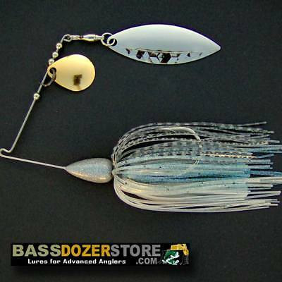 3 SPINNERBAIT HEADS 1 oz BLUE with BLUE GLITTER