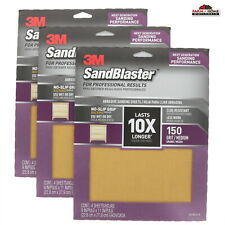 "Sait 10032 5pk 9/"" x 11/"" 400 Grit Aluminum-Oxide Sandpaper Sheets Waterproof New"