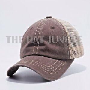 Image is loading Plain-Pigment-Dyed-Unstructured-Dad-Hat-Trucker-Buckle- 7d412e23a17f