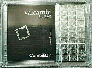 VALCAMBI SUISSE POPULAR BARS! 20 X 1 GRAM 999 FINE SILVER BARS
