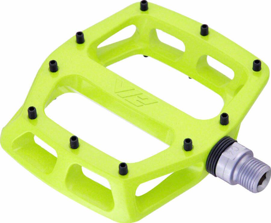 DMR V12 Pedals - Platform Aluminum 9 16  Lemon Lime