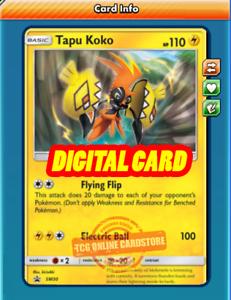 Tapu Koko PROMO SM30 for Pokemon TCG Online PTCGO, Digital Card