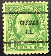 Original US Stamp 1 Cent Ben Franklin green
