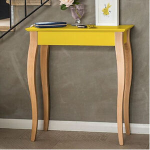Image Is Loading Designer Scandinavian Small Modern Console Table Wood  Yellow