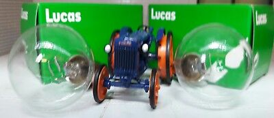 Fordson Super Power Major Dexta Genuine OEM Lucas BPF Headlight Headlamp Bulb x2
