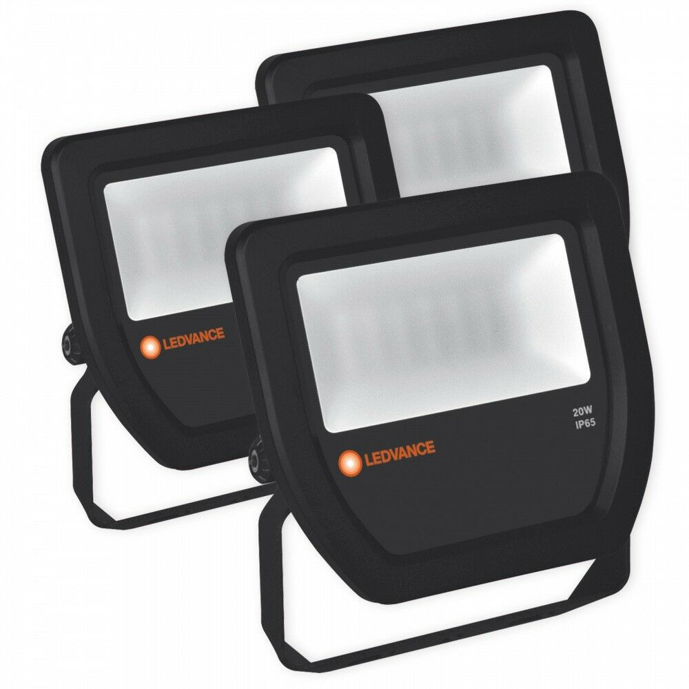 LEDVANCE LEDVANCE LEDVANCE 20W LED Fluter 2100lm Wand Außen Strahler 6500K Flutlicht IP65 schwarz 0f0752