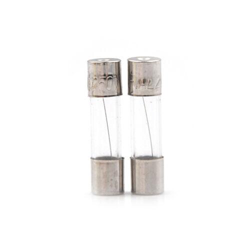 100Pcs//Box 5*20mm 1A 250V Fuses 1 Amp Glass Tube Fast-Blow Fuse F LD