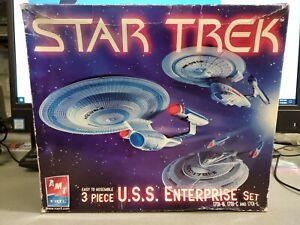Parts AMT ERTL 38388 Star Trek 3-Piece USS Enterprise Model Set NCC-1701-B,C,E