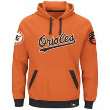 Baltimore Orioles Majestic MLB Reach Forever Cooperstown Hooded Sweatshirt M
