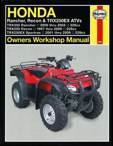 Haynes-Manual-2553-for-Rancher-Recon-amp-TRX250EX-ATV-Quad-workshop-amp-service