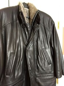 ea98a131 Details about Men's YSL black leather jacket, removable Shearling lining,  Yves Saint Laurent.