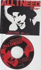 CD--FACE 2 FACE --- ALL I NEED