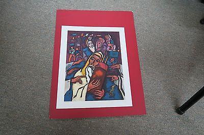 """22/"""" x 26/"""" Print Poster Unframed Unfolded Mane Katz Flower Cart 16/"""" x 20/"""""""