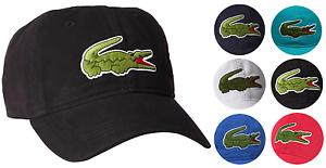 Details about Lacoste Men s Classic Gabardine Premium Cotton Big Croc Logo  Adjustable Hat Cap 18a2c00f5e7