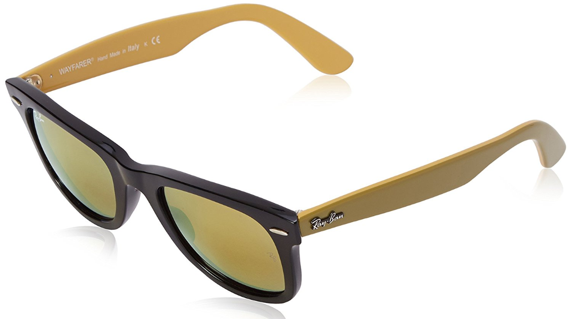 3847a0881b Ray-Ban Rb2140 Original Wayfarer Yellow Flash Sunglasses for sale ...