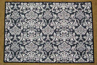 Earth Echoes Baroque Black & White Tapestry Placemat