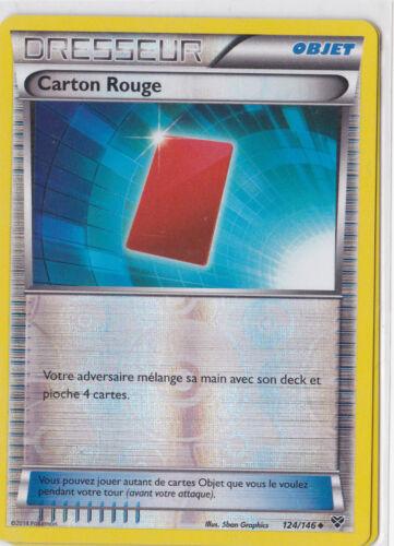 Carton Rouge Reverse Française Carte Pokemon Neuve XY 124//146