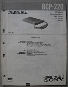SONY-BCP-220-Service-Manual